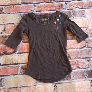 Lucky Brand size m brown top.